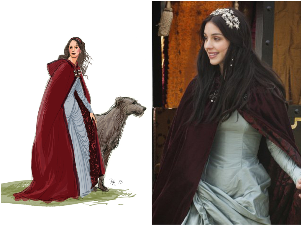 Medieval Hooded Capes and Cloaks
