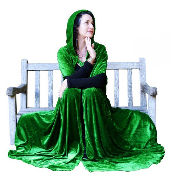 Green Hooded Cloak Cape