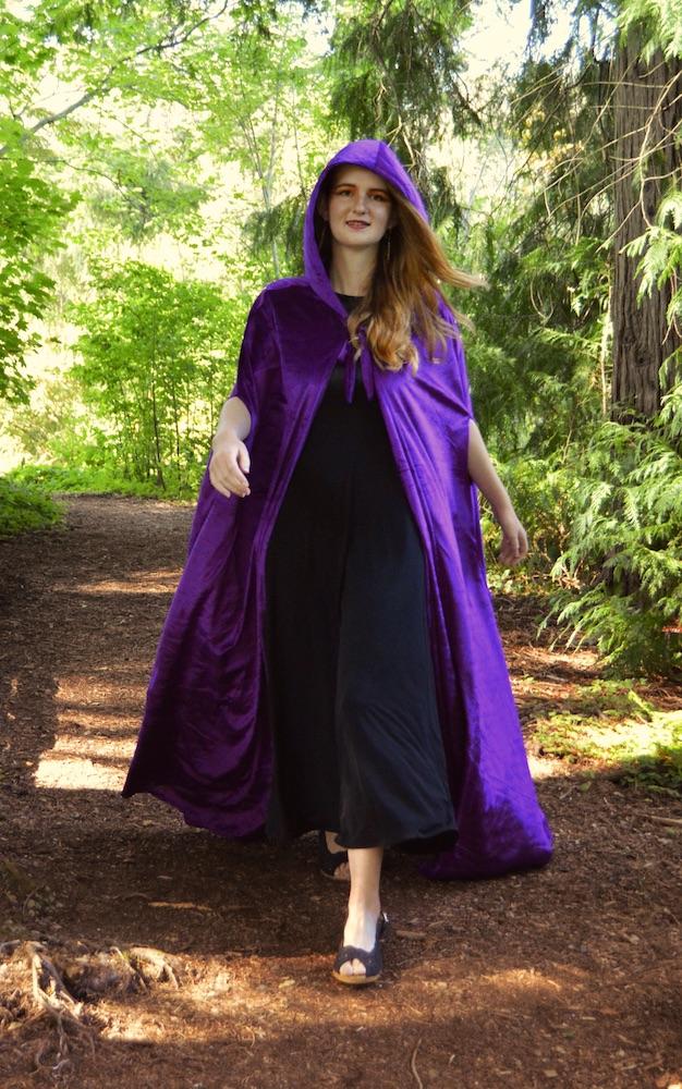 women's purple cloak