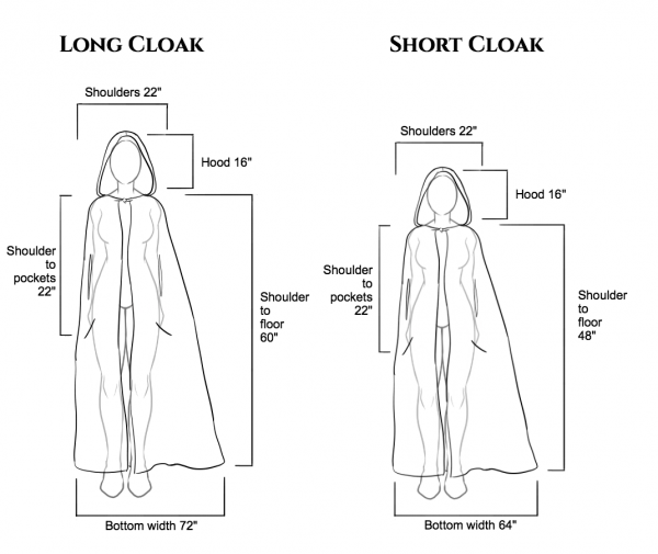 Blue Hooded Cloak Capes