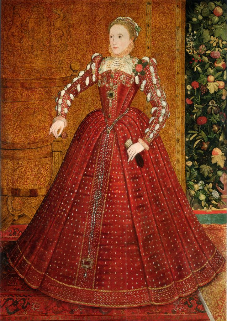 Queen Elizabeth in Scarlet