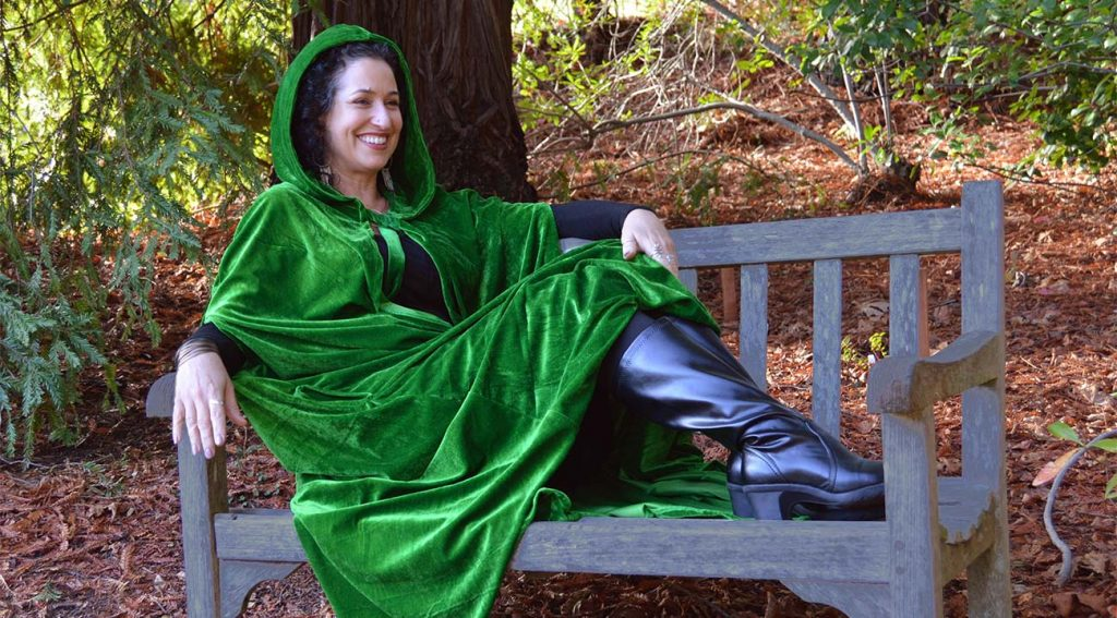 Green Women's Hooded Cloak