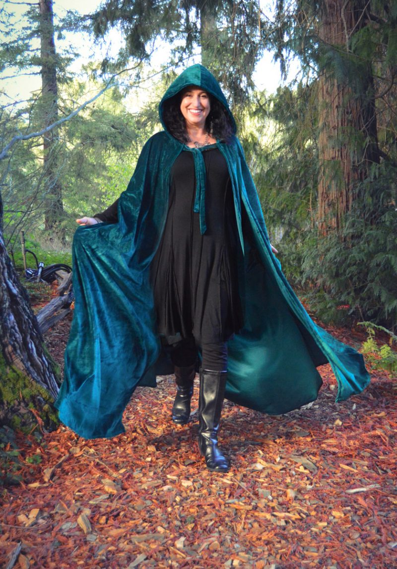Velvet Cloak with Hood