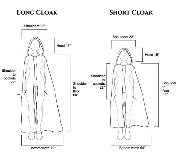 hooded cape cloak