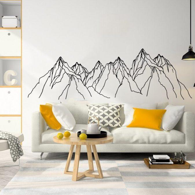 Geometric Mountain Wall Decal