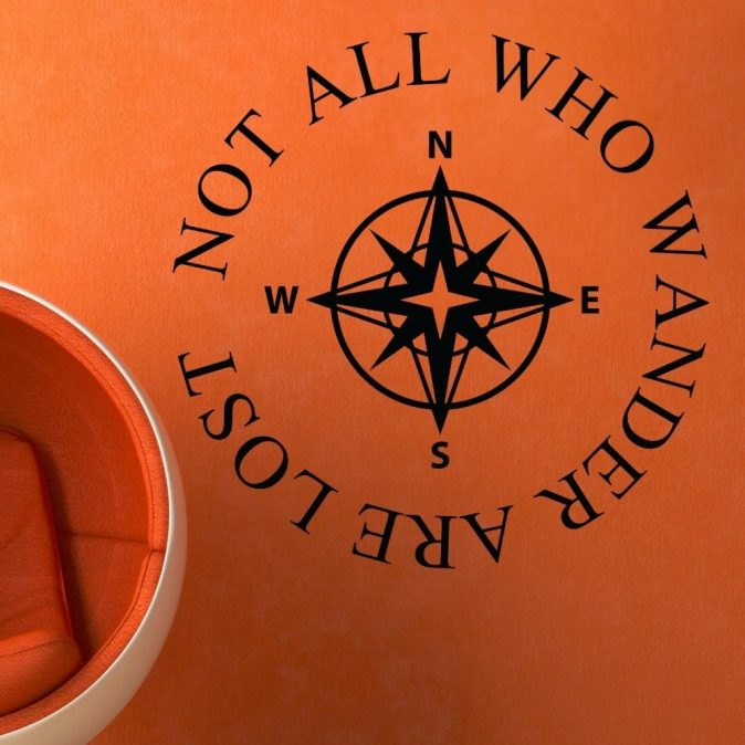 Not All Who Wander Wall Decal