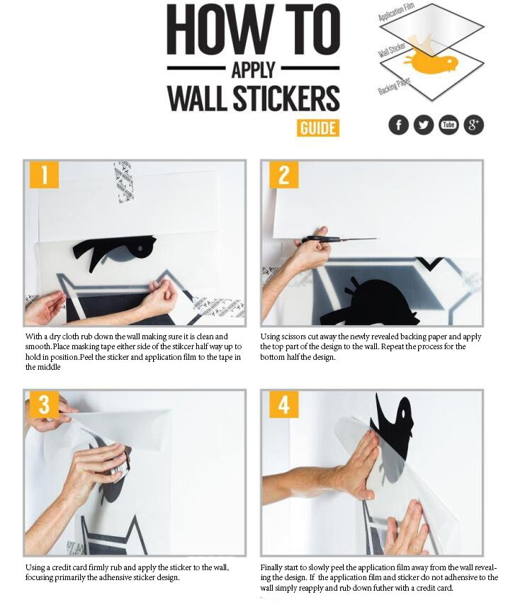 Wall Decal Instructions