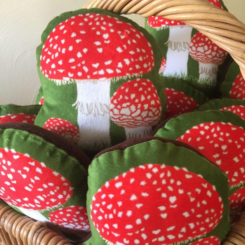 Toadstool Stuffie Mushroom Pillow
