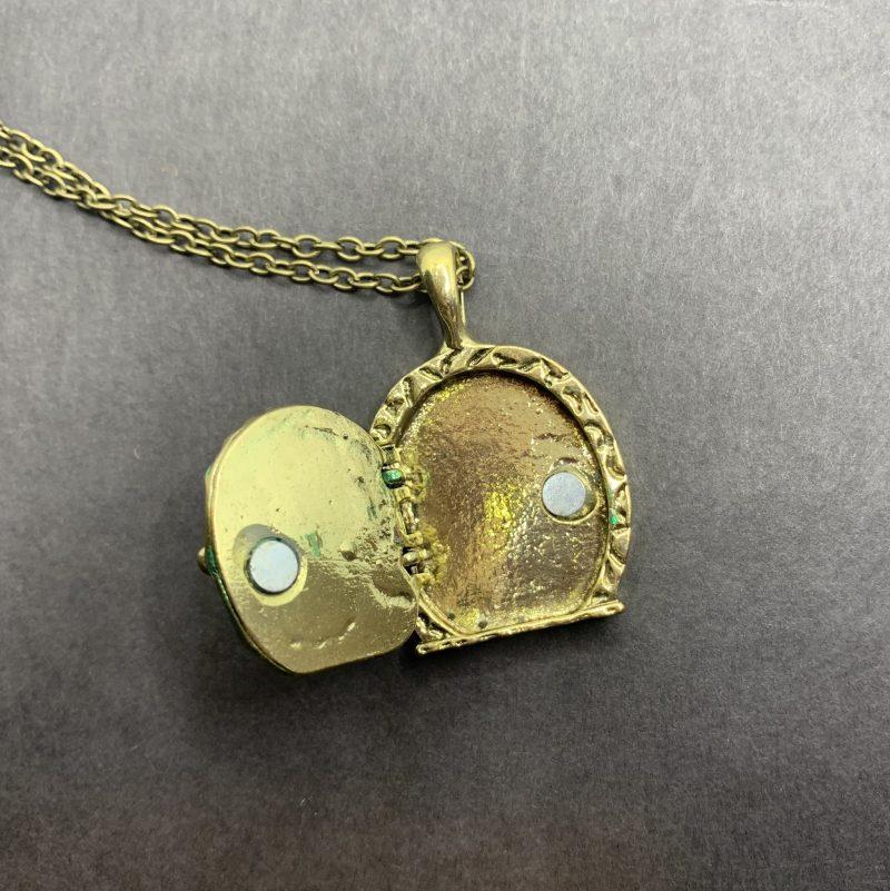 Tiny Door Locket Necklace