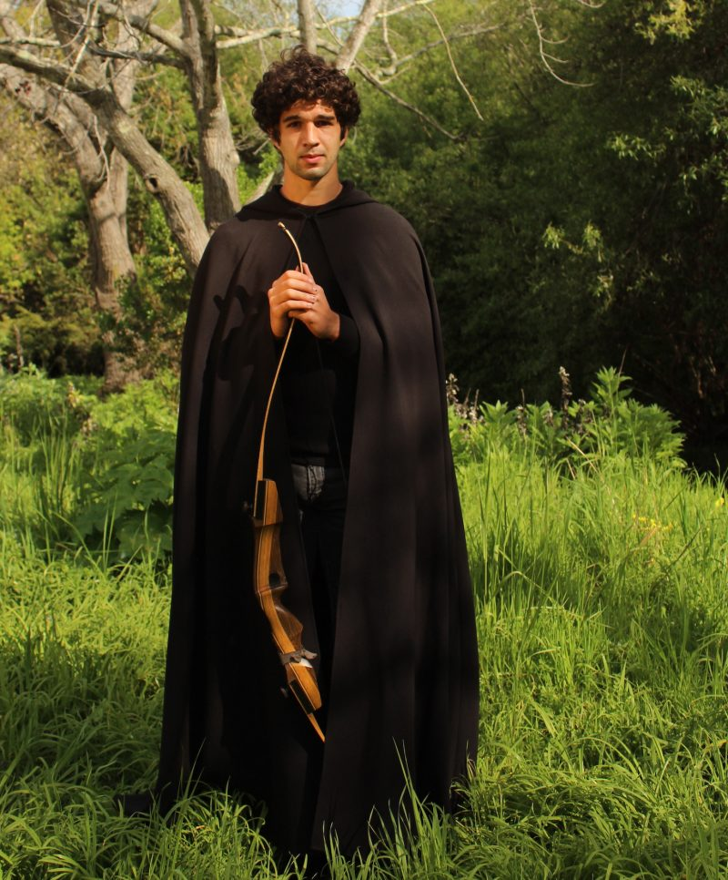Hooded Cloak Black