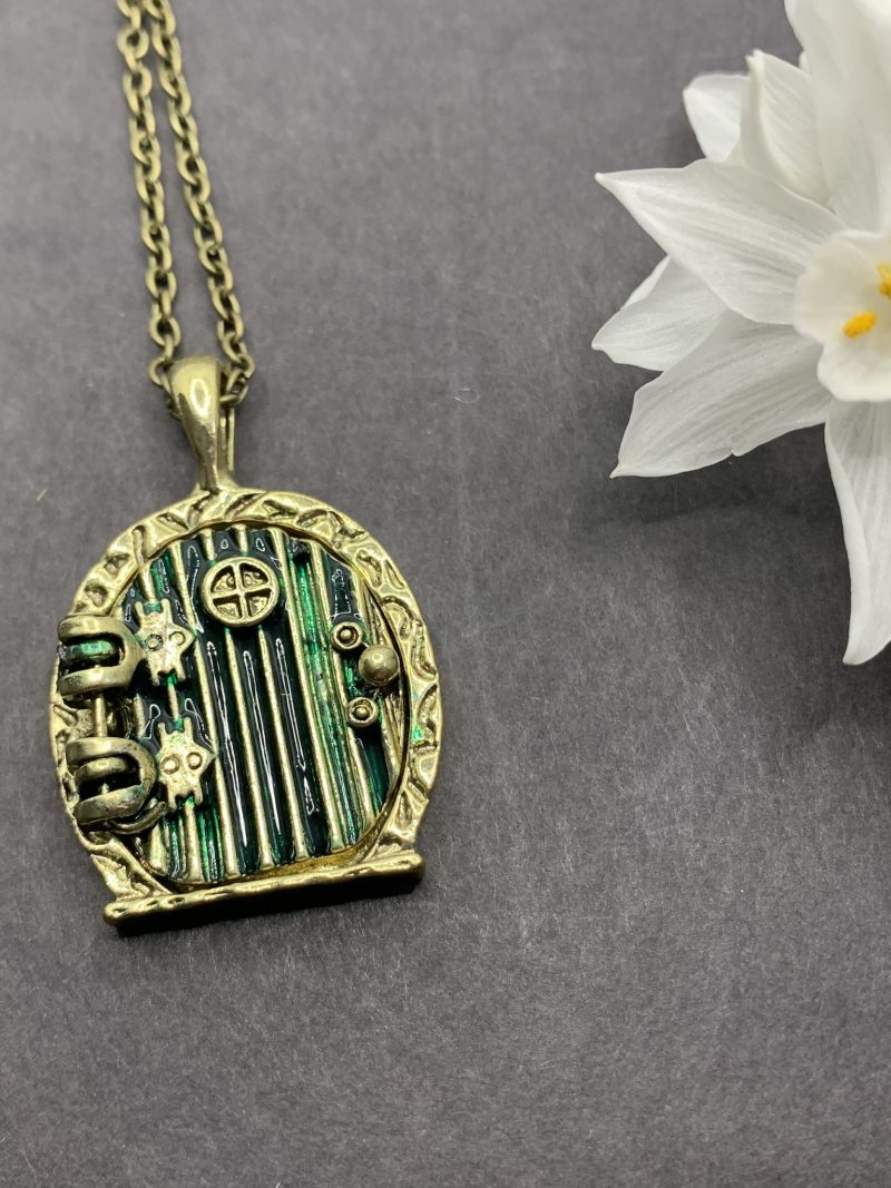 Tiny Door Locket Necklace