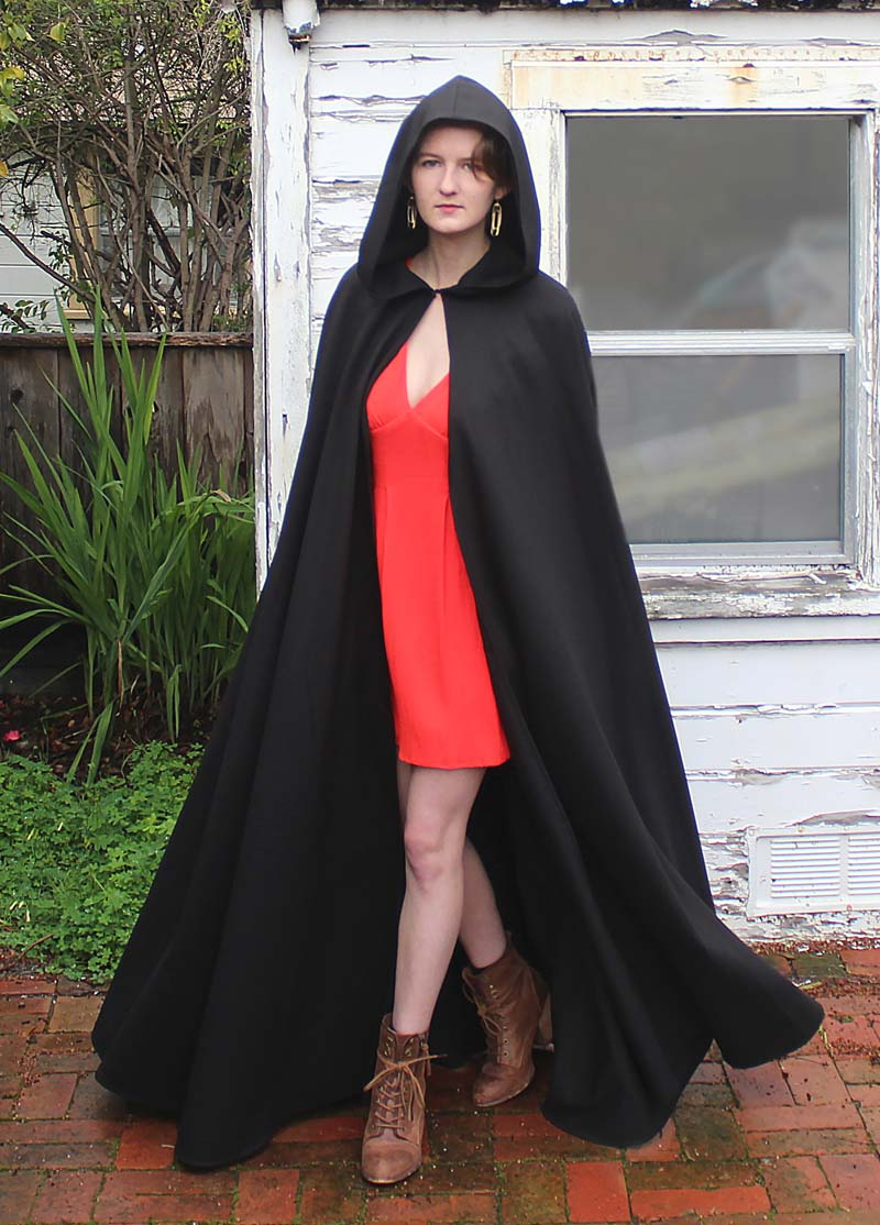 The Black Full-Length Hooded Cloak