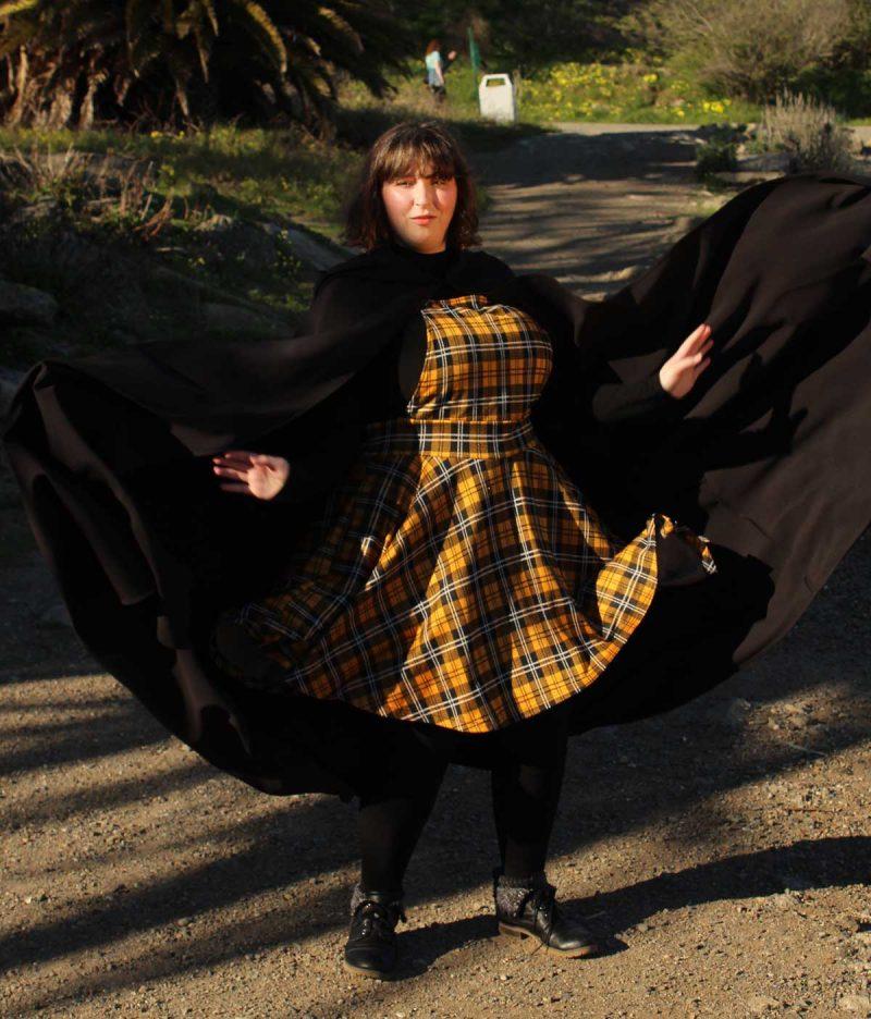 Women's black cloak