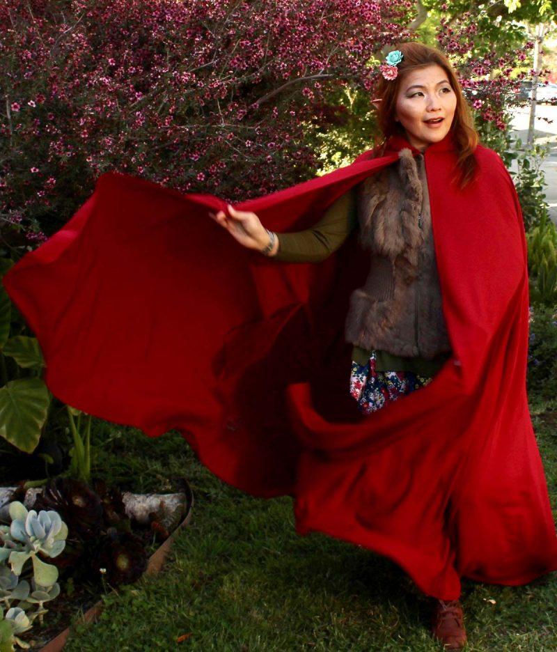 Hooded Cloak Woman