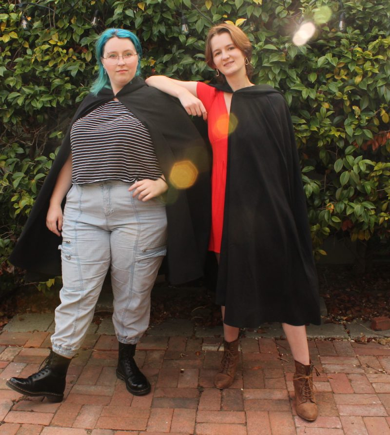 Women's Hooded Cloaks in Black, Green, Red or Brown