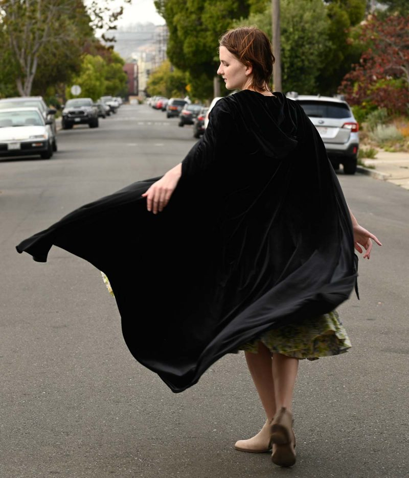 NEW! Extreme Luxury Black Velvet Cloak with Hood and Pockets, Unisex, Two Lengths